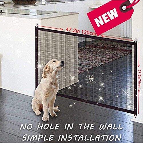 Puerta de seguridad para mascotas – Magic Gate Pet seguridad recinto portátil...