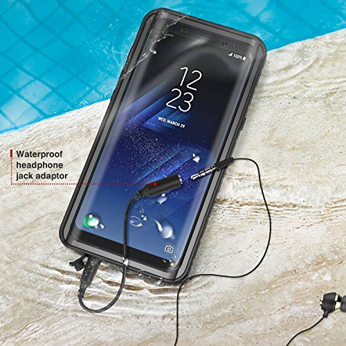 los angeles 2f99e 106ff Details about Samsung Galaxy S8 Plus Case, MoKo Waterproof Case with  Built-in Screen Protector