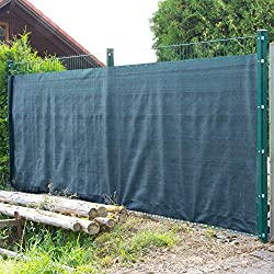 DEMA Sichtschutzzaun 25 x 1,8 m dunkelgrün
