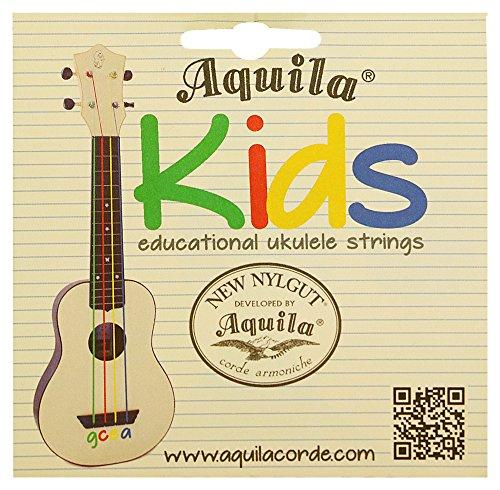 Aquila Corde farbige Ukulele Saiten | bunte Kinder Ukulelensaiten | NEU