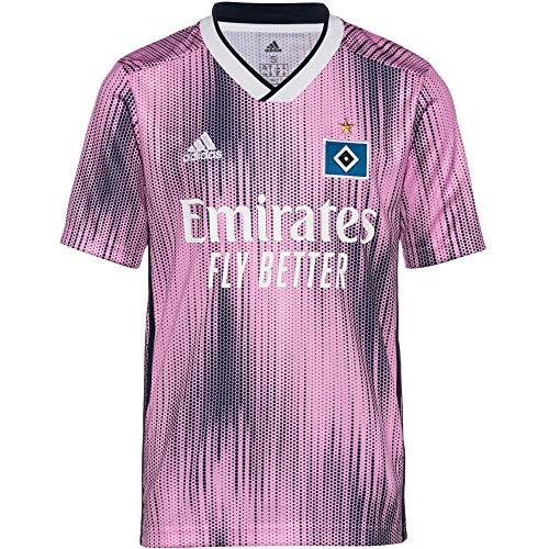 adidas Kinder Hamburger SV 19/20 Auswärts Fußballtrikot rosa 152