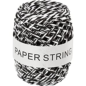 Creativ Company Ficelle de papier, noir/blanc, 50 m
