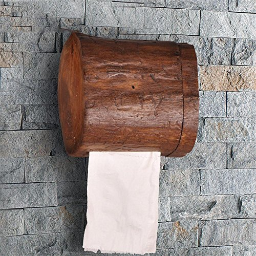 Carolina Trade- A mano contenitore di tovagliolo di legno rotolo