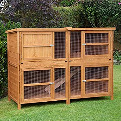 6ft Chartwell Double Guinea Pig Rabbit Hutch | Perfect Outdoor & Indoor Rabbit Hutch for 2 Rabbits Or Guinea Pigs | The Biggest Hutch On Amazon by The Hutch Company