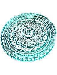 Riesen Auswahl - Sarong Pareo Wickelrock Rund Strandtuch im Mandala Design Handtuch Strandlaken Roundie Duschtuch Badetuch