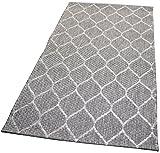 Balta Rugs in- und Outdoor-Teppich Wire Mesh Grey 80x150cm Kunststoff für Innen und Außen