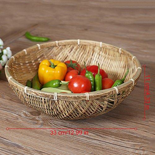 CampHiking Panier de rangement en osier tressé à la main Plateau de service Panier pour Fruits Légumes Nourriture Pain