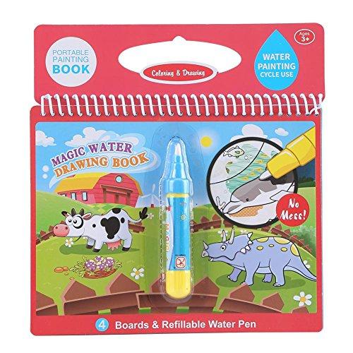 Zerodis Magic Water Drawing Book, Riutilizzabile Doodle Painting Libro da colorare con Acqua Disegno Penna per Bambini Bambini Bambino precoce Learn Toy #4