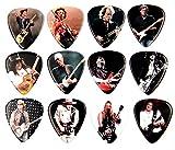 Guitar Heroes púas famosos guitarristas Juego con 12unidades)