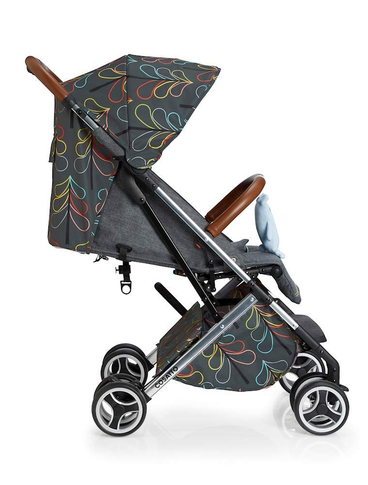 Cosatto Woosh XL Pushchair, Suitable from Birth to 25 kg, Nordik Cosatto Compact from-birth pushchair. carries up to 25kg child, so you can use it for longer. Hands full? it's lightweight with one-hand fold into compact bundle. easy to store. It can even carry dock 0+ car seat (sold sep) just pop onto the adaptors (sold sep). 4