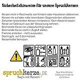 WB wohn trends Spruchkerze, Sternenkind, grau, 20cm, 680g d7,5cm, Trauer-Kerze mit Spruch, Brenndauer ca 70 Std - 2