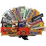 Heavenly Sweets - Grand Coffret Cadeau Américain Tout Chocolat /Chocolat/Bonbons Cadeau Noël/Anniversaire - Panier en Osier