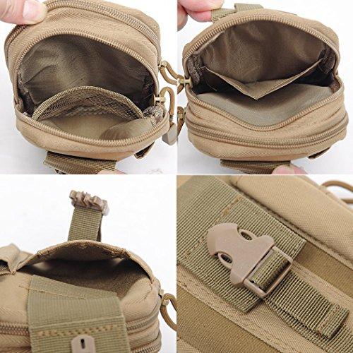 Veni Masee Compact multiuso camo Outdoor Tactical waist bag Pack Edc Utility gadget con Phone Holster Holder ,9colori, Camo5 Brown