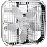 White : Holmes HBF2010A-WM 21-Inch by 4.5-Inch Box Fan, 3 Speed-Settings, Metal Frame, 20-Inch Blade, White