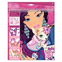 Style Me Up - Kids Fashion Design Puppy Colouring Book - Designing Sticker Activity Book for Girls - SMU-1431