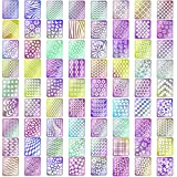 Kyerivs Diseños de Vinilos de Uñas Set de Hojas de Pegatinas de Plantillas de Uñas para Diseño de Arte de Uñas,24 Hojas 72 Diseños, 144 Piezas