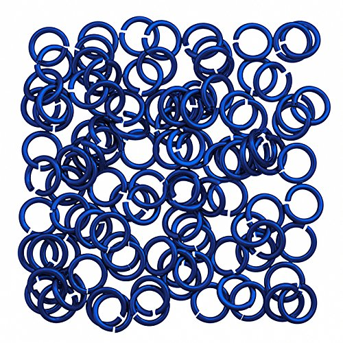 In alluminio 5 mm Jump Rings 1.2 mm spessore Royal Blue PK100