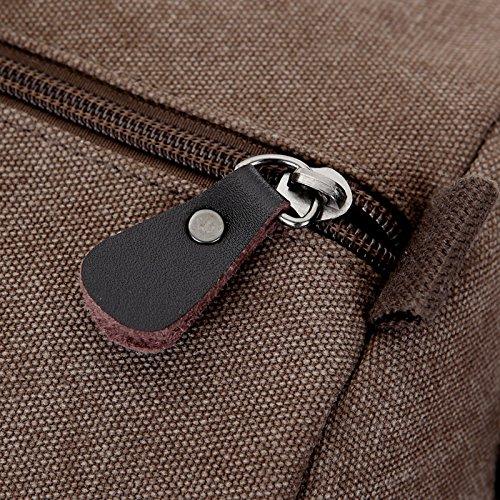 Canvas Reisetasche klein herren Wochenend-Reisetasche für 2-3 Tage Reise-Qualitäts-Camping Messenger Tasche Mehrzweck Sporty Gear Handag (Khaki) Braun