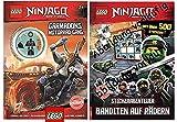 AMEET Lego® Ninjago® - Garmadons Motorrad-Gang Taschenbuch + Lego® Ninjago® - Stickerabenteuer – Banditen auf Rädern Broschiert