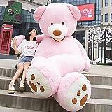 VERCART Groß Teddybär Spielzeug Kuscheltier Gigantischer Puppe Weiches Plüsch als Geschenk Geburtstagsgeschenk zur Dekoration Erwachsene Kinder Rosa 340CM