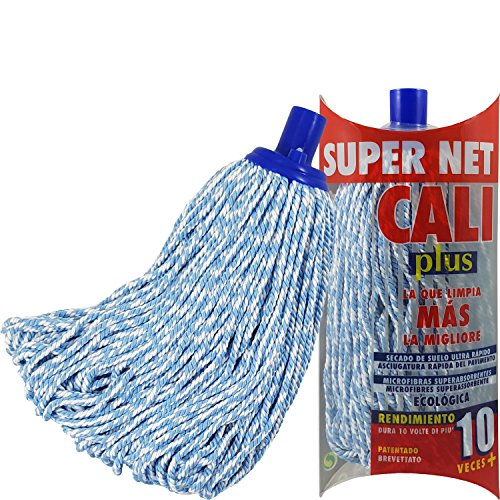 Super Net Cali Mopp Mikrofaser-Bicolor Blau -