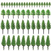 Boerni 50 PCS Mixed Model Trees, Miniature Trees, Scale Model Tree, DIY Train Trees for Sand Table Models, Scene Decoration