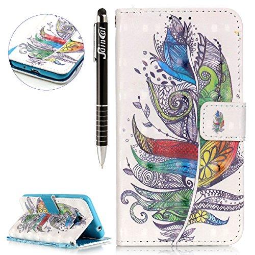 SainCat Ledertasche Brieftasche im BookStyle PU Leder Hülle Wallet Case Folio Schutzhülle Bumper Handytasche Flip Cover Etui Case für Samsung Galaxy J3 (2016) - Mikrofaser-wallet-karte