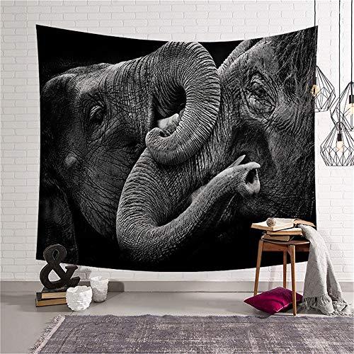 YACHAO Tapiz de Mandala de Estilo Indio, para Colgar en la Pared, Estilo Hippy y New Age,Tapiz de Elefante Manta de Pared Toalla de Playa 6 200x150cm