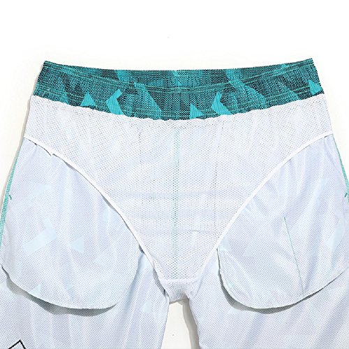 ... Lantra Besa Blaue Geometrische Figur Wasserabweisend Schnelltrocknend  Damen Herren Badehose Badeshorts Knielang und Mini Shorts für ...
