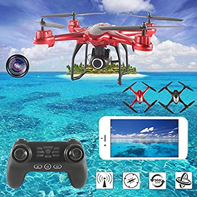 FOXFF S30W 1080P Drone with Camera Live Video, 200 Meters WiFi Real-time Transmission Distance?GPS Fixed Point One Key Return Drone with Headless Mode Easy to Fly from FOXFF