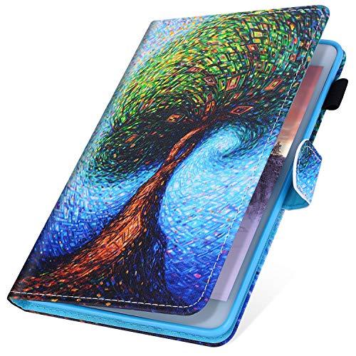 MoreChioce kompatibel mit Huawei Mediapad T3 10.0 Hülle,kompatibel mit Huawei Mediapad T3 10.0 Hülle Case, Leder Tablet Cover Stand Brieftasche Etui mit Auto Sleep/Wake Funktion,Baum,EINWEG T3 Stylus