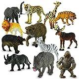24 x HC-Handel 915700 Kunststoff Zootiere sortiert Plastiktiere 10-15 cm