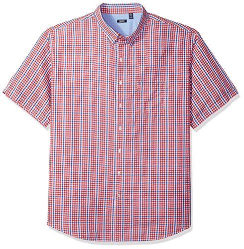 IZOD Men's Big and Tall Saltwater Breeze Short Sleeve Button Down Shirt