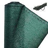 WOLTU GZZ1181m5-1 Rete Ombreggiante Telo Coprente Telone Copertura Polietilene Frangivista Oscurante Giardino Verde 1,2x25m