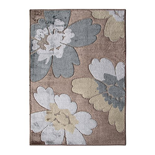 Riva Carpets Calais Designer Brown And White Area Rug (2.17 x 3.75 ft)