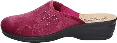 inblu Ciabatte Chiuse Pantofole Invernali Calde comode Plantare in Vera Pelle BJ112
