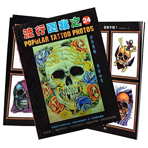 HermosaUKnight Tattoo Supplies Referenzen Buch Manuskript Skizzenbücher Body Art Trend Blau
