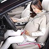 Schwangerschaft Sicherheitsgurt, Bauch Schild, Mutterschaft Sicherheitsgurt Schwangerschaftsgurt Auto Gurt rutschfest Sitzauflage für Schwangere (rosarot)