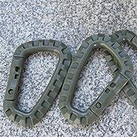 Gancio fibbia sicuro all'aperto D-ring Gear zaino moschettone-verde militare