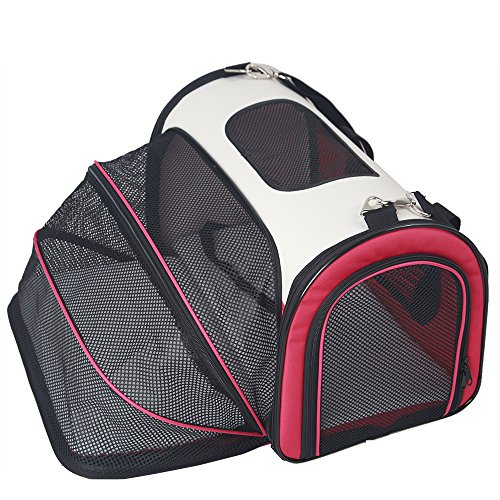 petsfit-comfort-expandable-foldable-travel-carriers-for-dogs-and-cats-red-colormedium-50cm-x-29cm-x-