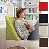 L'exceptionnel coussin cale dos pour le salon ou la chambre, pour la lecture assise décontractée. Cinq couleurs unies pour une ambiance dans le style branché de Sabeatex (Vert)