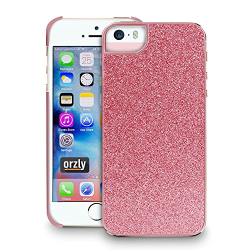 Orzly® - Orzly Art Case für das iPhone SE – Schmetterling Funkel-Glanz Hülle/ Schutzhülle / Tasche/ Case/ Cover –kompatibel mit iPhone 5/5S und dem neuen iPhone SE Rose Shimmer for iPhone SE