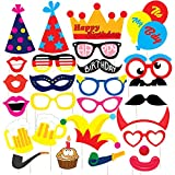 #10: Discount Retail Laser Cut Party Props for Birthday Party (26 Pieces)
