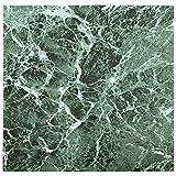 60 x vinyl-bodenfliesen - selbstklebend - Küche / Badezimmer klebrig - BRANDNEU - Uni grün Marmor 192