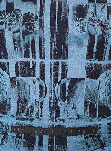 Key Largo Herren T-Shirt PUNCH Vintage Print Faust Totenkopf Skull Blau