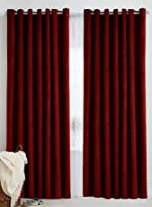 Italian Fab Plain Crush Polyester Curtains (Set of 2)