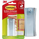 Command Universal Metal Picure Hanger,1 Hanger and 2 Strips,Self Adhesive,Damage Free Walls
