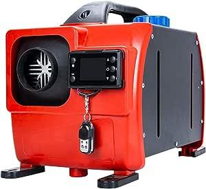 Supertop Diesel Standheizung 24v 8kw All In One Kit Diesel Lufterhitzer Luft Dieselheizung Mit Fernbedienung Und Lcd Display Für Wohnmobile Von Lkw Lkws Rot Küche Haushalt