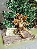 Angelo in terracotta dipinta a mano. Angelo con strumento musicale da appendere. Regalo di Natale. Decorazioni natalizie. Le ceramiche di Ketty Messina.