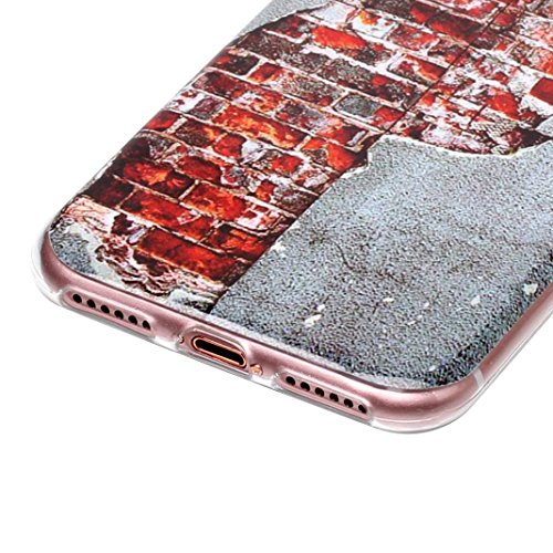 3 pcs Caso Soft per iPhone 7 / 8, Asnlove Morbida Elegante Custodia Ultra Sottile TPU Gomma Gel Cassa Motif di Colore Case Antiurto TPU Silicone Trasparente Cover Posteriore, Gruppo-4 Stile-3